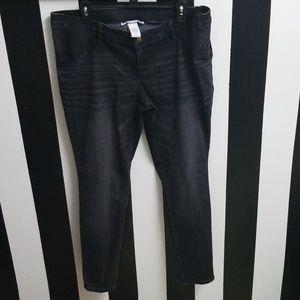 Liz Lange Maternity Black Jean Jeggings Size 14♡